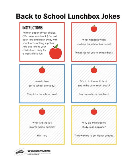 printable school jokes a glimpse inside back to school round up and a free
