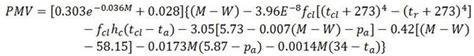 thermal comfort equation human thermal comfort e4g org