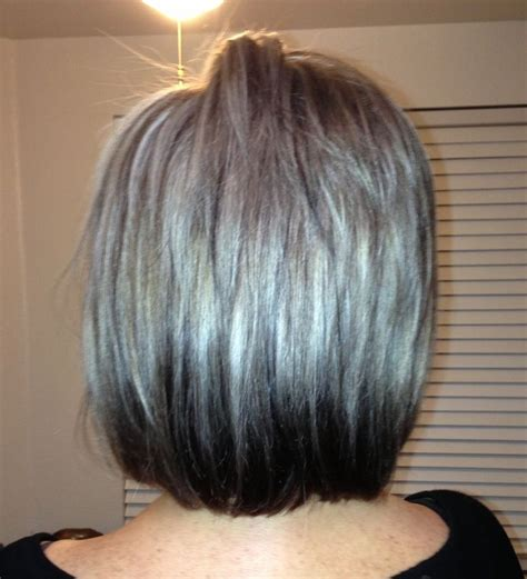 brown hair with caramel highlights to hide gray platinum silver highlights in the event my hair