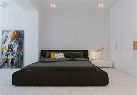 minimalistic bed modern minimalist black bedroom pillow design olpos design