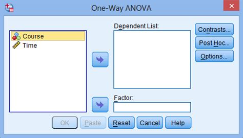 spss tutorial on anova one way anova in spss statistics step by step procedure