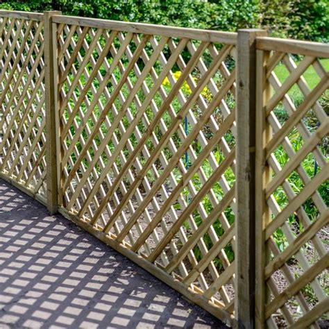 Garden Lattice Trellis Panels Grange Madeley Lattice Trellis Panels 1 8m Gardener
