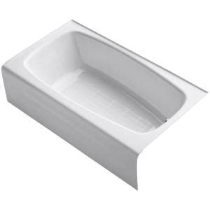kohler seaforth bathtub kohler seaforth 4 5 ft right drain soaking tub in white k