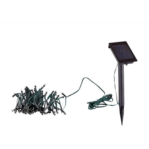 led ls home depot yards beyond solar powered white led string light set