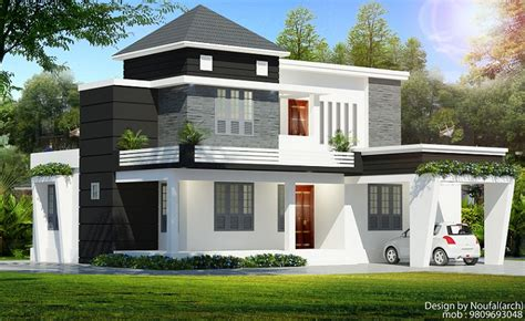 1850 square floor 4 bhk modern home design 1700 sq ft contemporary floor 4 bhk home designs