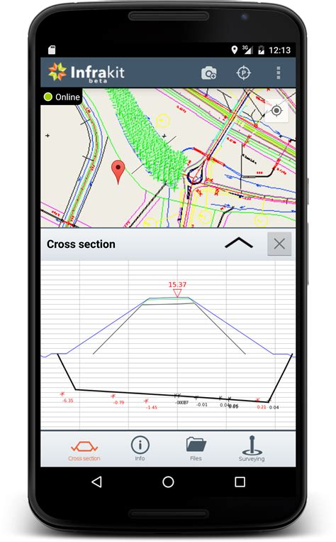 Tablet Android Cross surveying tool in your tablet infrakit