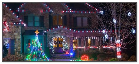 cascading outdoor christmas lights