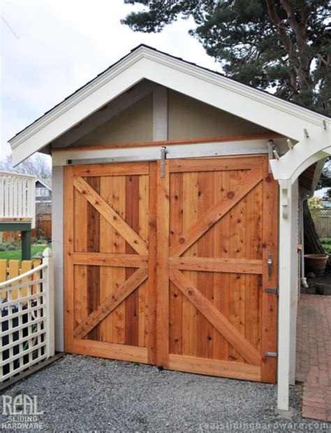 Sliding Door Hardware For Shed by Barn Door Installations Rustic Garage And Shed