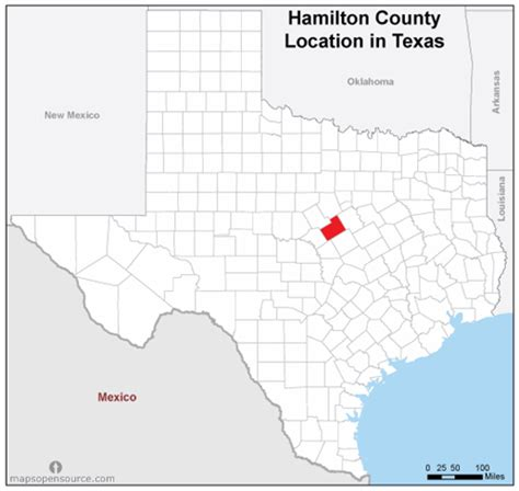 hamilton texas map free and open source location map of hamilton county texas mapsopensource