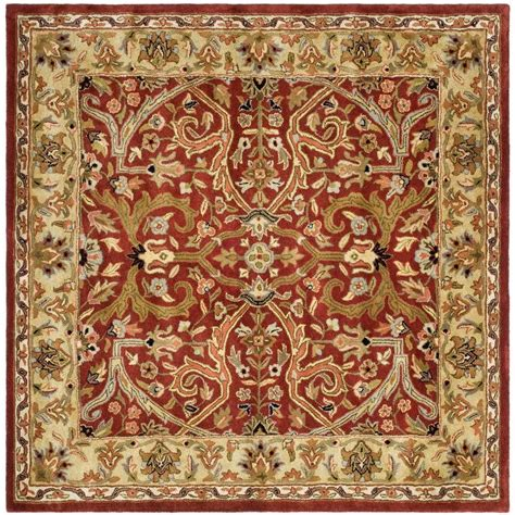 area rugs 8 ft safavieh heritage gold 8 ft x 8 ft square area rug hg644b 8sq the home depot