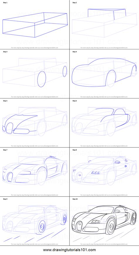 how to draw a bugatti step by step pictures cool2bkids how to draw bugatti veyron printable step by step drawing