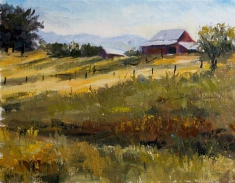 painting montana km2400 glowing august day landscape original montana