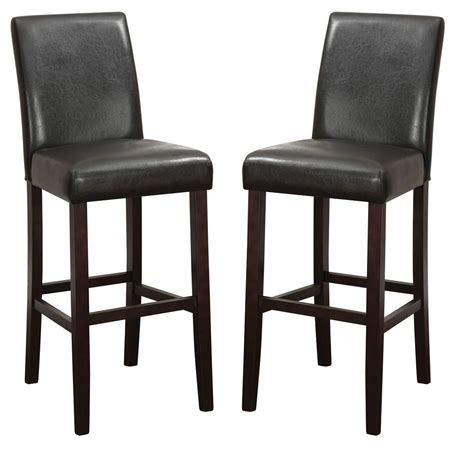 parson bar stool parson 29 quot counter height bar stool set of 2 from coaster