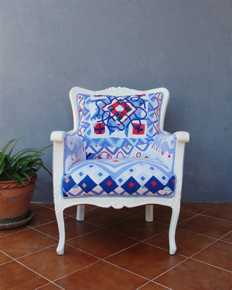 Patchwork Wood Furniture - americana armchair sewn quilt patchwork wooden furniture