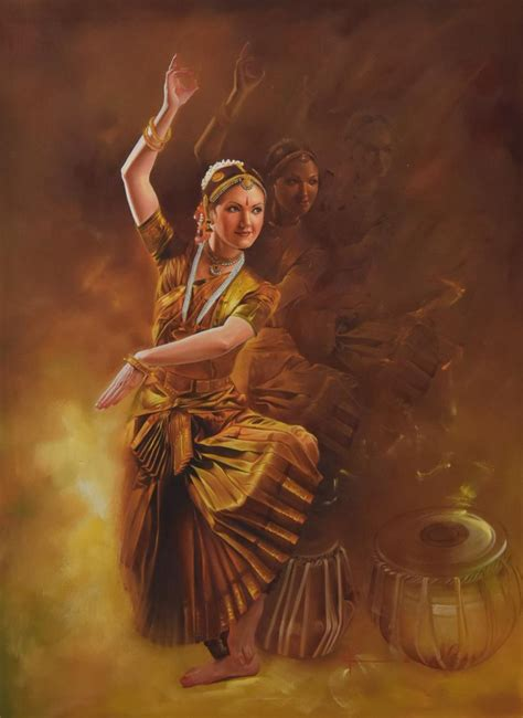 biography of indian classical artist grace by artist kamal rao oil paintings