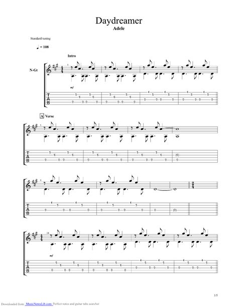 guitar chords for adele best for last daydreamer guitar pro tab by adele musicnoteslib com