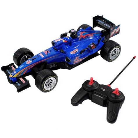 car toy blue remote control race car for kids and boys in blue and red