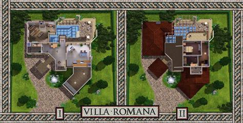 2 floor villa plan design mod the sims villa romana