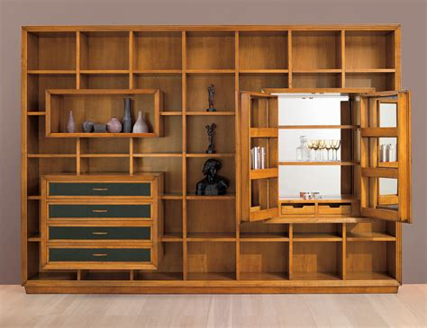 wall to wall bookcases gio cmp 005 italian designer modular cherrywood tv wall