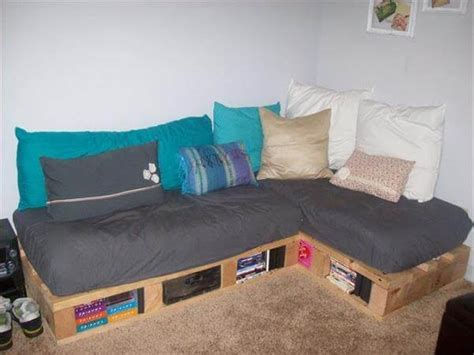 pallet couch cushion ideas indoor pallet sectional www pixshark com images