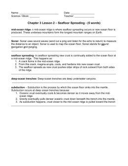 bill nye seafloor spreading worksheet