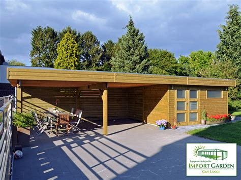 abris de jardin avec terrasse abri de jardin toit plat au design contemporain concept abri