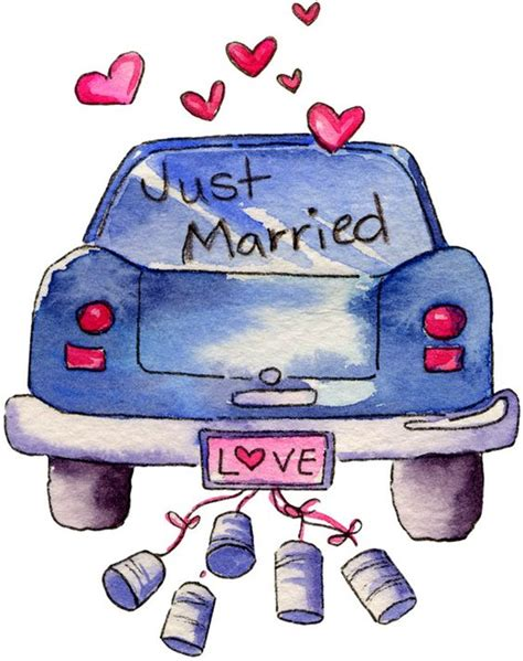 Wedding Just Married by Just Married Wedding Clipart And Cards