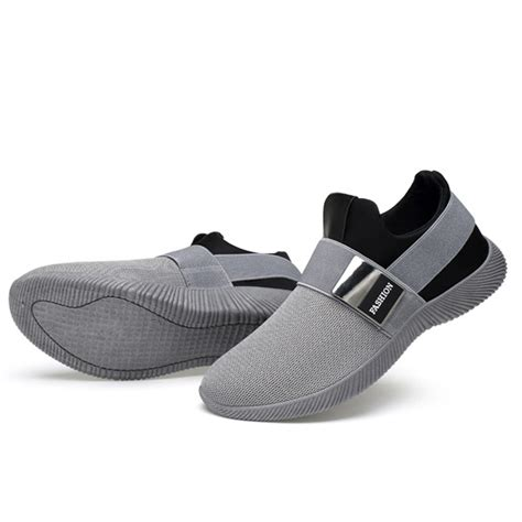 comfortable elastic band slip on casual athletic shoes