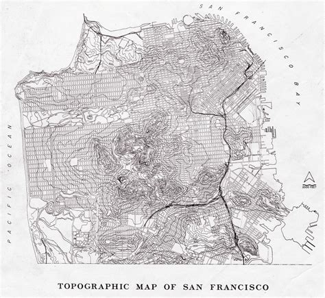 san francisco map topographic san francisco topographic map