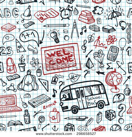 doodle pattern school stock images similar to id 109528301 hand drawn doodle