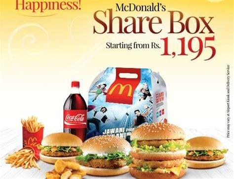 mcdonald's share box price starting from rs. 1195