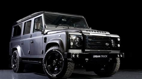 urban truck shows   modified land rover defender lineup