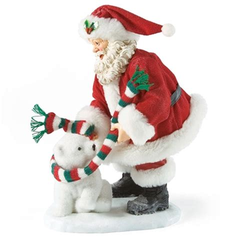 santa with young polar bear possible dreams figurine