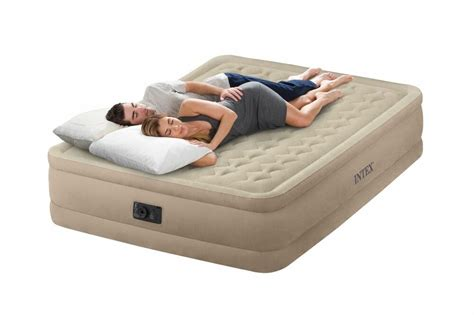 intex raised ultra push fiber tech air bed mattress air bed w 64457e ebay