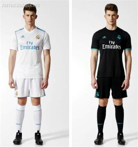 Jersey Real Madrid Away 2017 2018 Set Kit Official Cetak Nama real madrid 2017 18 adidas home and away kits football fashion org