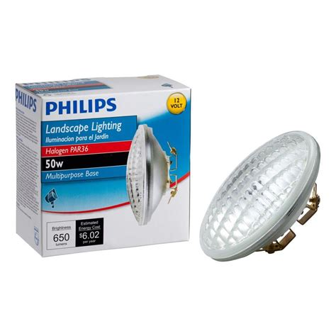 Landscaping Light Bulbs Philips 50 Watt 12 Volt Halogen Par36 Landscape Lighting Multi Purpose Base Flood Light Bulb