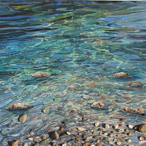acrylic paint on water ripples in the water cornish gallery sophi