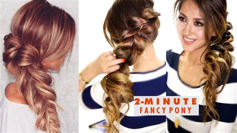 Simple Fancy Hairstyles by 2 Minute Fancy Pony Braid Hairstyle Easy School