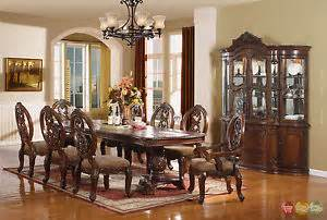 Formal Dining Room Sets With China Cabinet Wyndham Traditional Cherry 11 Pc Formal Dining Room