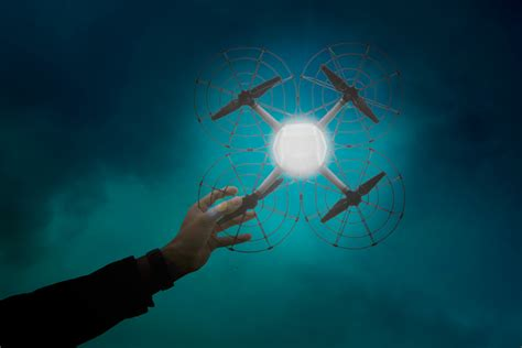 drone with and lights 500 drones light sky to set record iq by intel