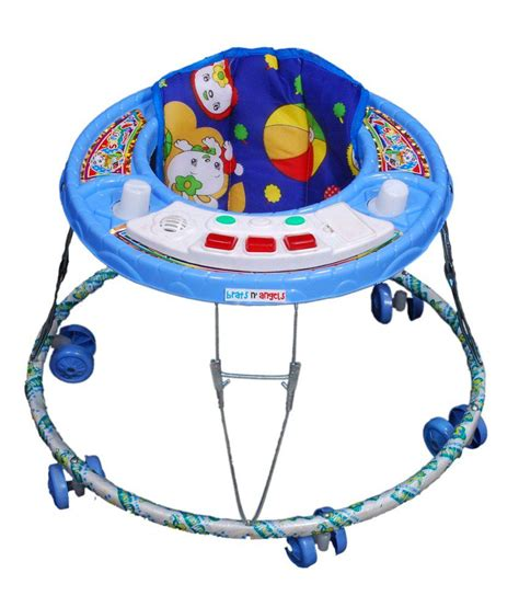 brats number brats n angels 2 in 1 musical baby walker blue buy