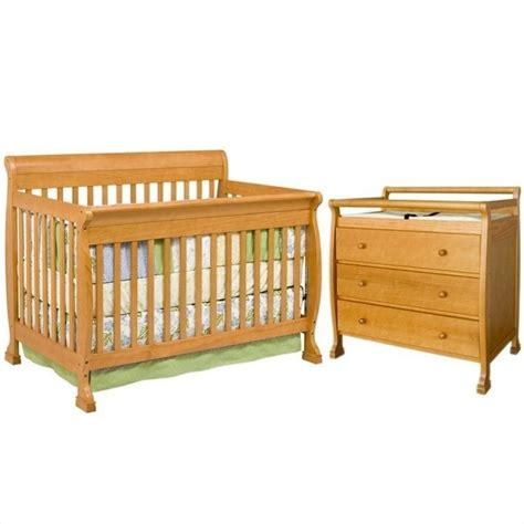 4 In 1 Crib With Changing Table Davinci Kalani 4 In 1 Convertible Crib With Changing Table In Honey Oak M5501o Cribset Pkg