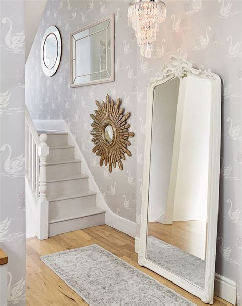 grey wallpaper hallway ideas whitby check tablecloth grey walls pastel and grey