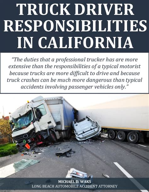 truck driver responsibilities in california