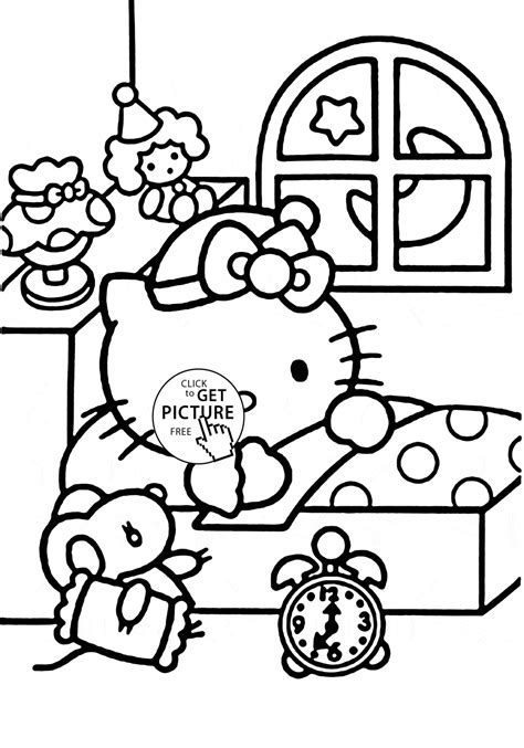 coloring pages for adults hello kitty hello kitty ready to sleep coloring page for kids for