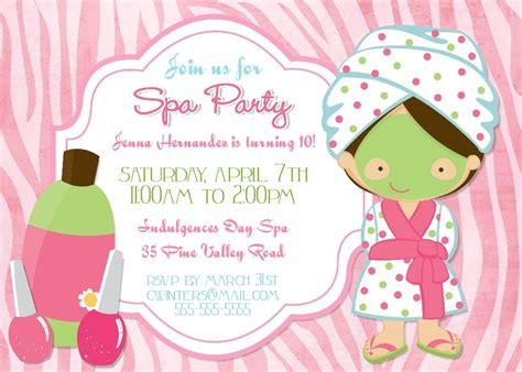 Spa Party Invitation Templates Cloudinvitation Com Spa Invitation Template