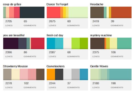 2016 best color palettes top tools to pick the best website color schemes