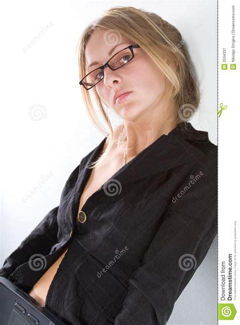 teacher stock image image  person glasses positive