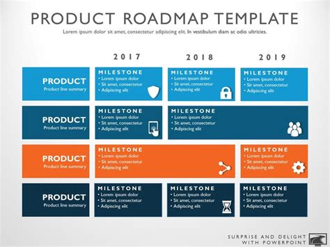 Three Phase Business Planning Timeline Roadmapping Powerpoint Template My Product Roadmap Portfolio Strategic Plan Template