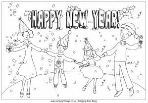 new year colouring pages happy new year calendar activities for kindergarten new